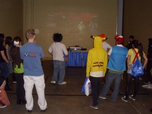 Can't have a convention without a dance game...