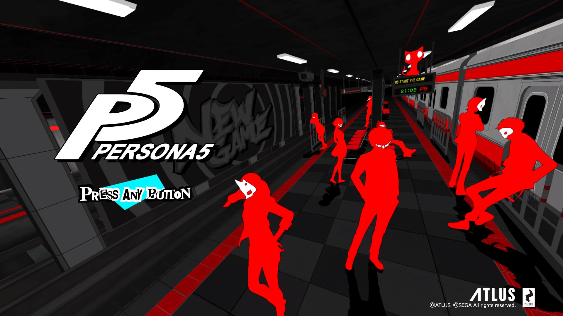 Persona 5 Title Screen