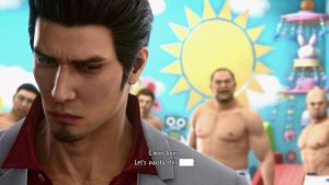 Kiryu turned way from adult men in diapers picking a fight